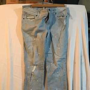 Women's washed out jeans